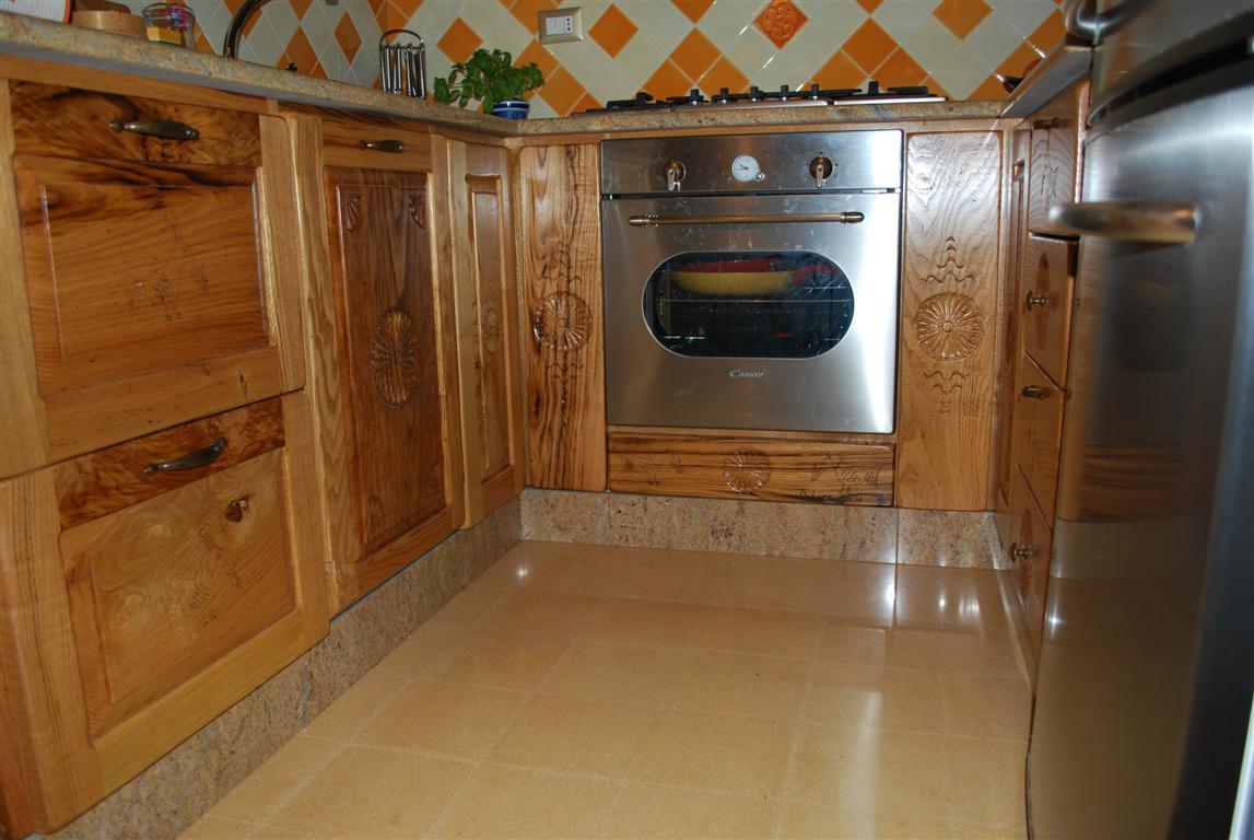 ArtigianArte » Blog Archive » Cucina in castagno sardo intagliata ...